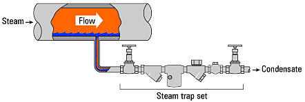 Steam Traps Installation on Steam Lines